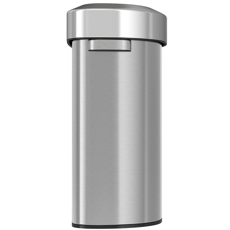 18 Gallon Semi-Round Stainless Steel Open Top Trash Can