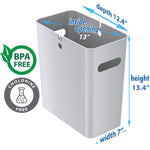 SlimGiant 4.2 Gallon Metallic Silver Open Trash Can (6-Pack)