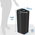 14 Gallon Black Sliding Lid Sensor Trash Can