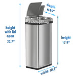 4 Gallon Multifunction Stainless Steel Sensor Can