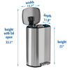 iTouchless SoftStep™ 30 Liter Stainless Steel Step Trash Can