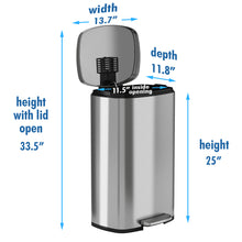 Load image into Gallery viewer, SoftStep™ 30 Liter Stainless Steel Step Trash Can