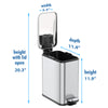 SoftStep™ 1.3 Gallon Slim Bathroom Stainless Steel Step Trash Can