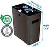 SlimGiant 4.2 Gallon Mocha Black Open Trash Can (2-Pack)