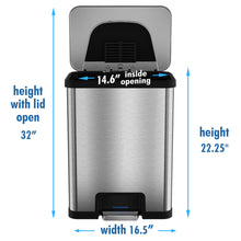 Load image into Gallery viewer, SoftStep™ 5 Liter Stainless Steel Step Trash Can