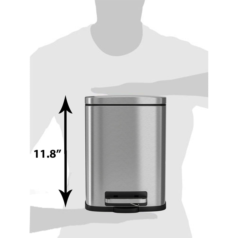 SoftStep™ 5 Liter Stainless Steel Step Trash Can