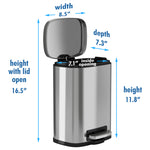 1.32 Gallon / 5 Liter SoftStep Step Pedal Trash Can