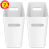 iTouchless SlimGiant 4.2 Gallon Polar White Open Trash Can (2-Pack)