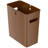 iTouchless SlimGiant 4.2 Gallon Toffee Brown Open Trash Can