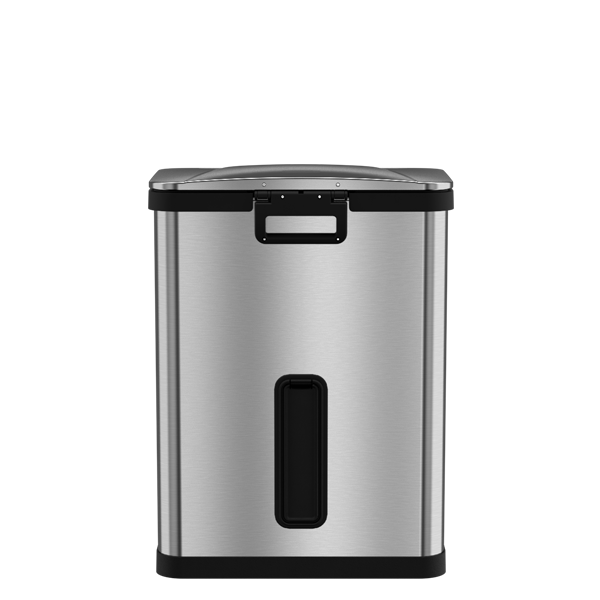 AirStep™ Feather-Light Step Trash Can, 13 Gallon, Stainless Steel