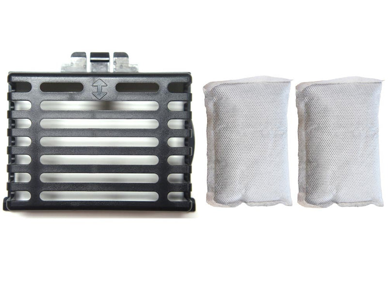 Flat Odor Filter Compartment and 2 Activated Carbon Filters Bundle