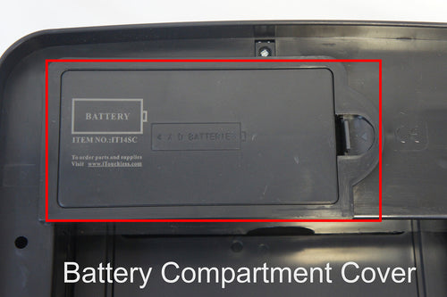 Battery Cover (with single end tab) of 14 Gallon Trash Cans