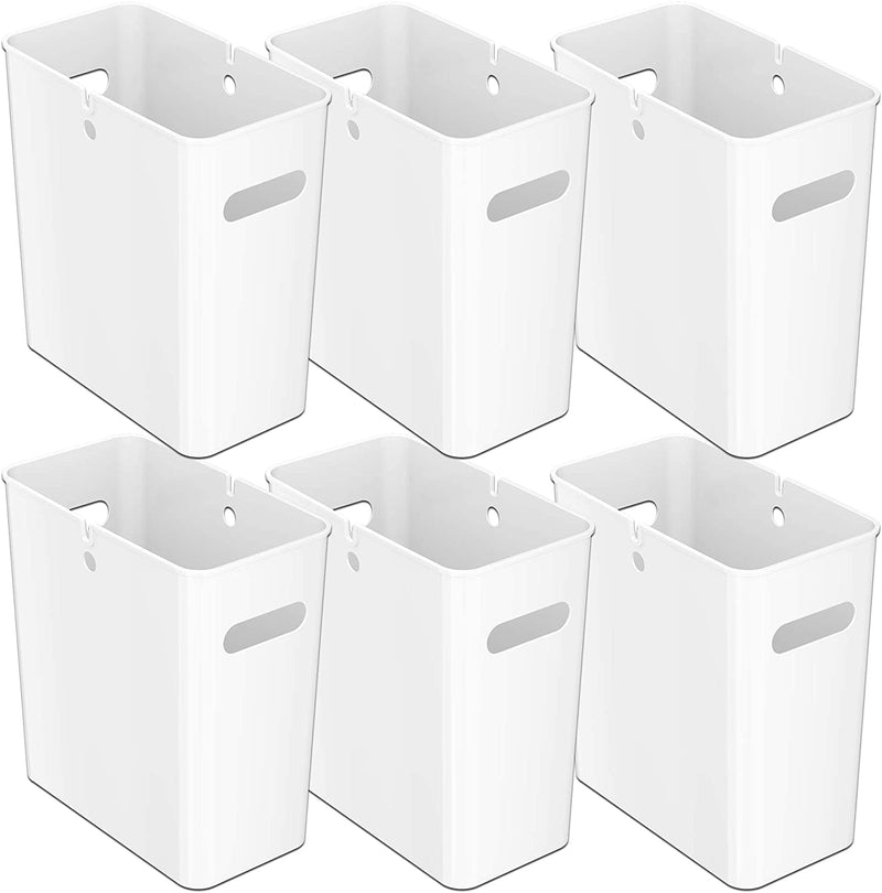 iTouchless SlimGiant 4.2 Gallon Polar White Open Trash Can (6-Pack)