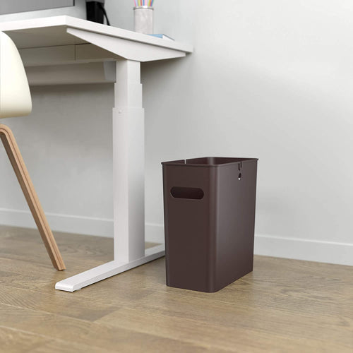 iTouchless SlimGiant 4.2 Gallon Mocha Black Open Trash Can