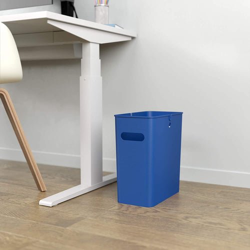 iTouchless SlimGiant 4.2 Gallon Reactive Blue Open Trash Can (2-Pack)