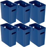 iTouchless SlimGiant 4.2 Gallon Reactive Blue Open Trash Can (6-Pack)