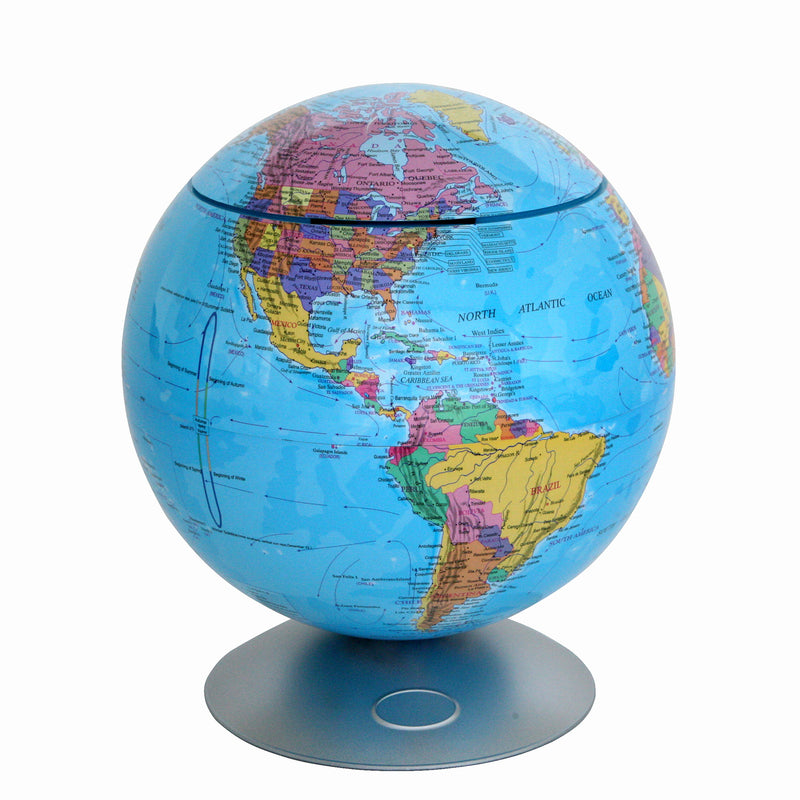 Sensor Activated 360° Globe Hidden Storage Container