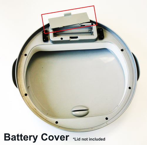 Battery Cover of Multifunction 8 and 13 Gallon White Sensor Can