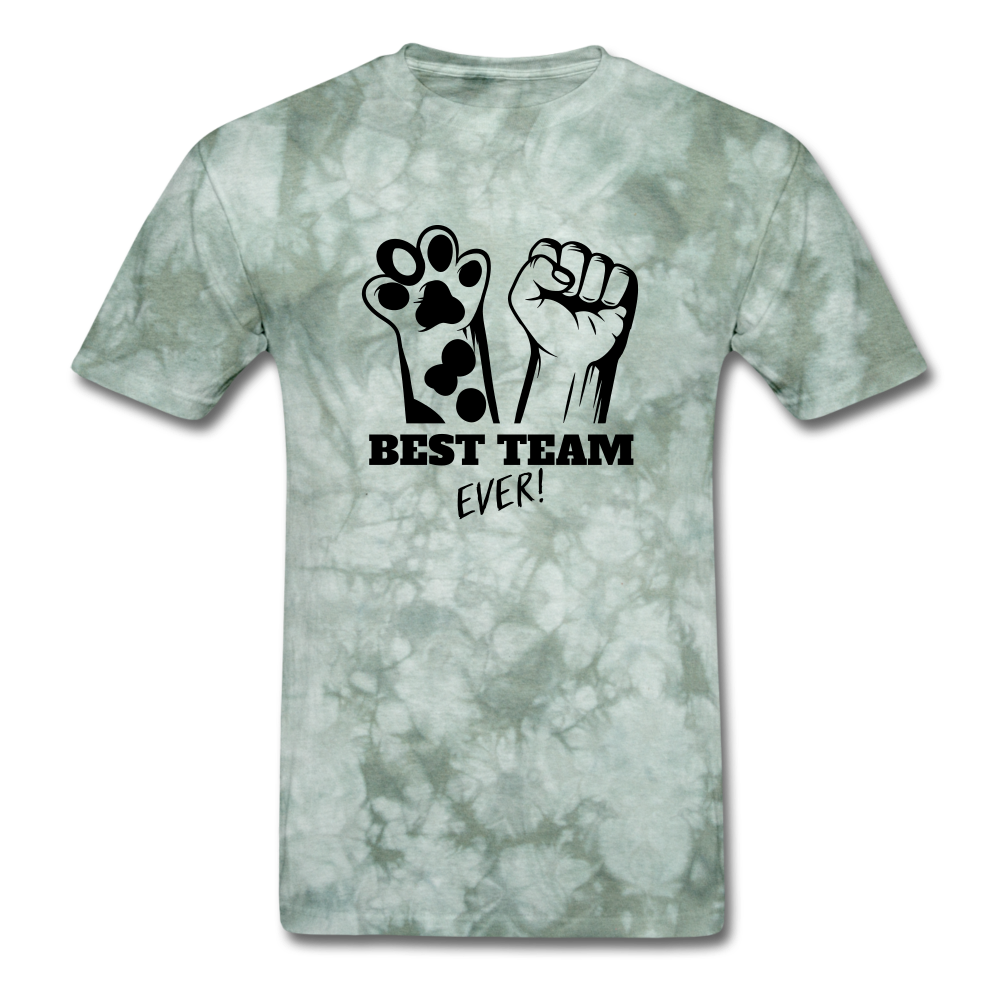Best Team - military green tie dye