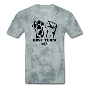 Best Team - grey tie dye