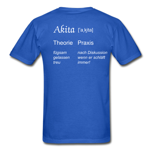 Definition Akita - royal blue