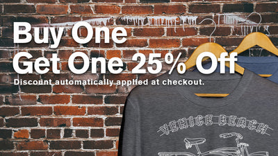 Buy one t-shirt, get a second at 25% off