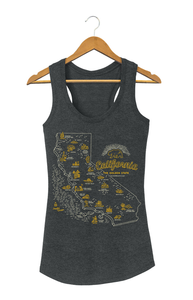 Women's CA State Tank Top