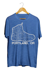 Portland Boot Map T-Shirt