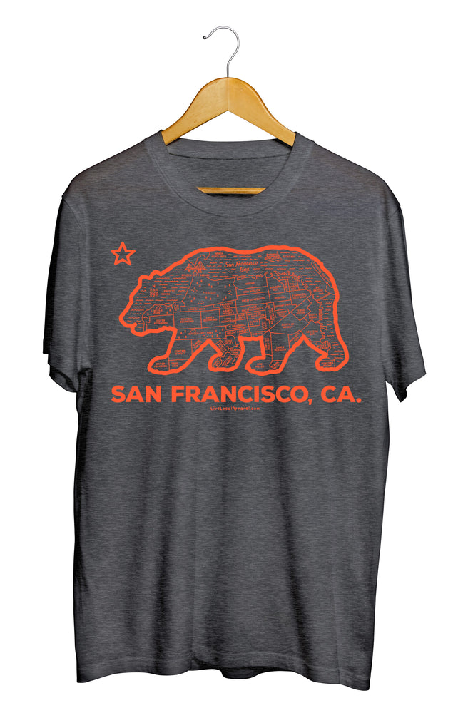 San Francisco Bear Map T-Shirt