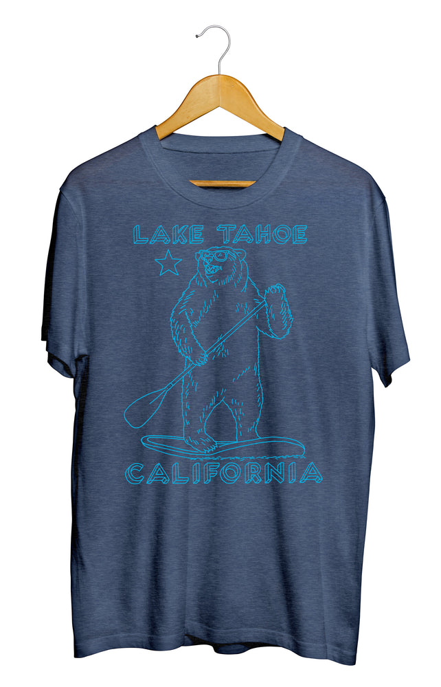 Lake Tahoe Stand Up Paddle Bear T-Shirt