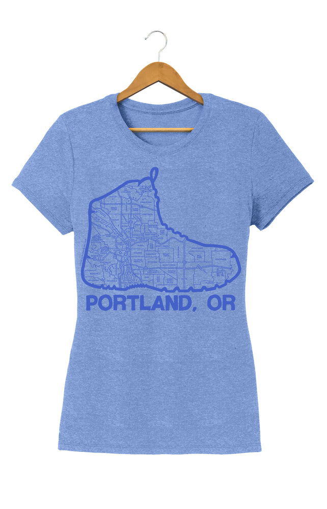 Women's Portland Boot Map T-Shirt