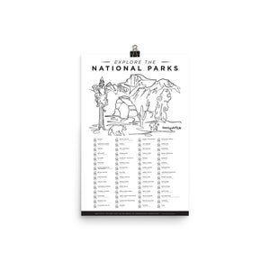 National Parks Checklist