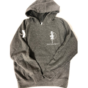 Youth Gray Hooded Sweatshirt