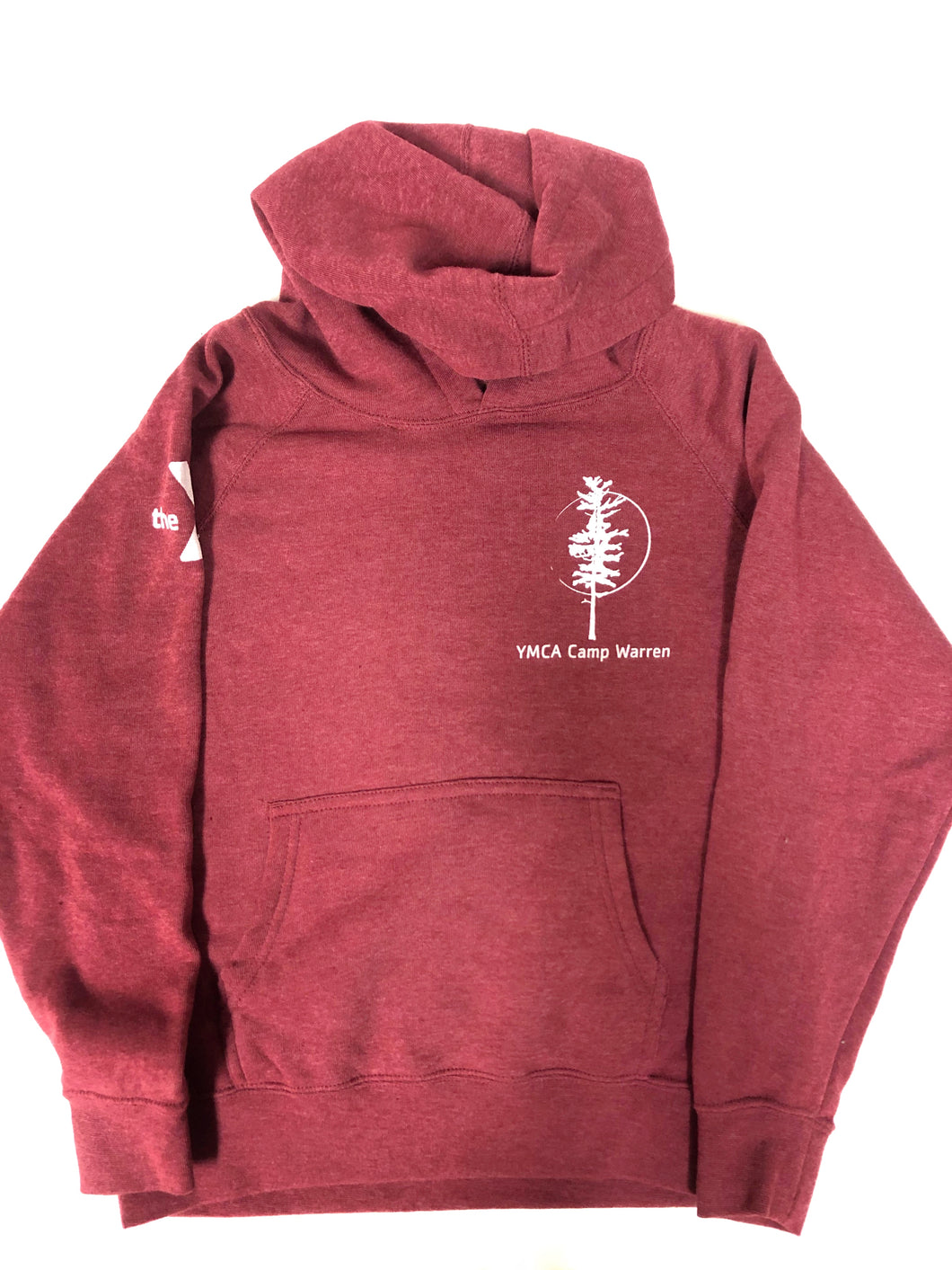 Youth Red Hooded Sweatshirt