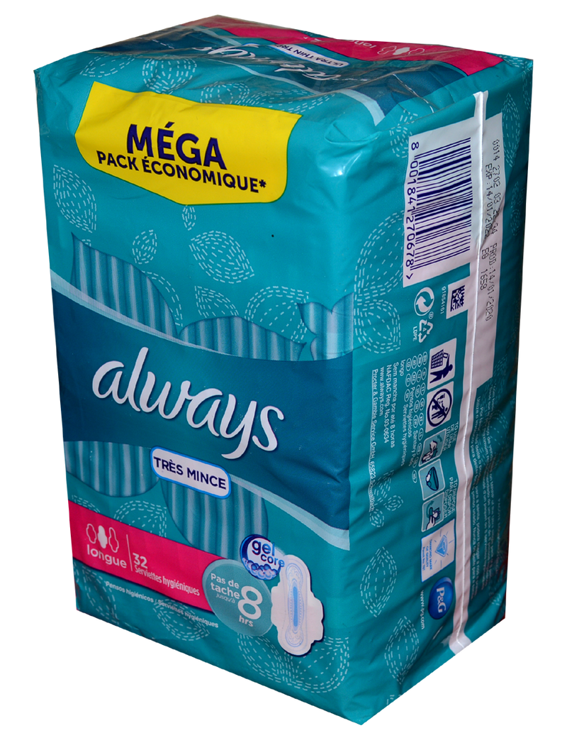 Always Mega Ultra Thin x32 Pink