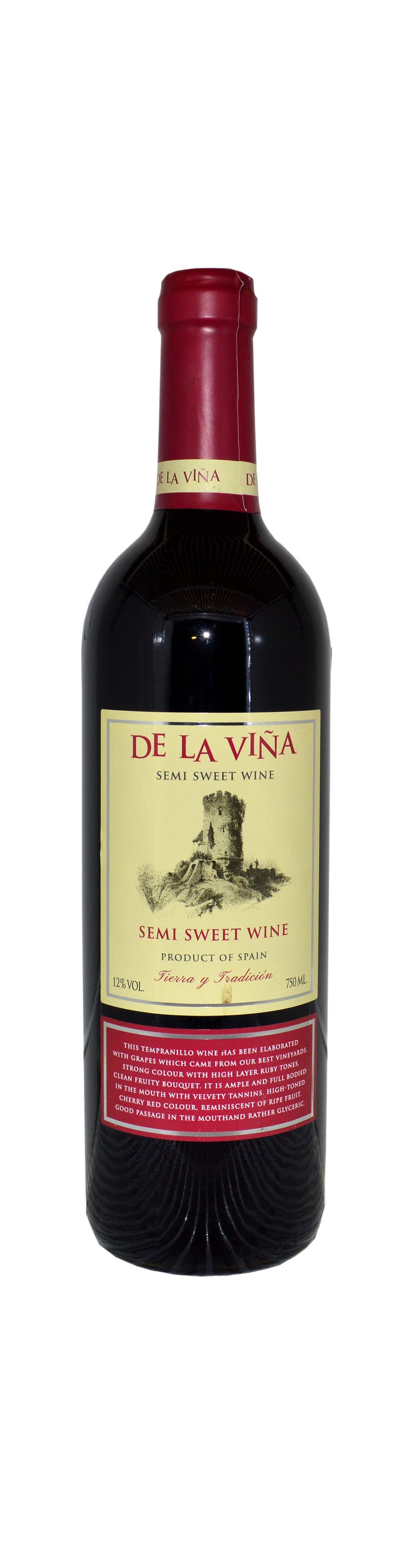 De La Vina Semi Sweet Wine 75cl