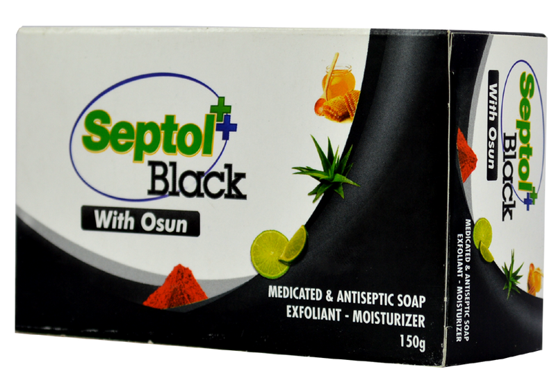 Septol Black Soap with Osun150g