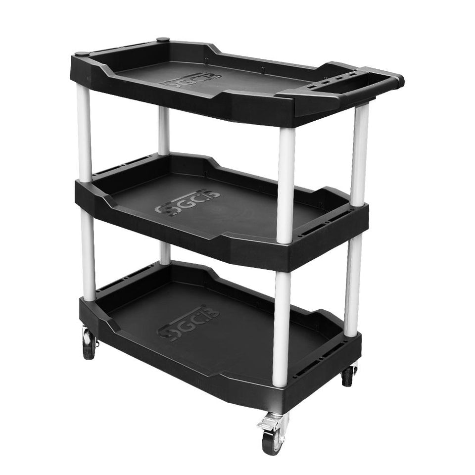 3-Tier Mobile Rolling Utility Cart with Wheels - SGCB AUTOCARE
