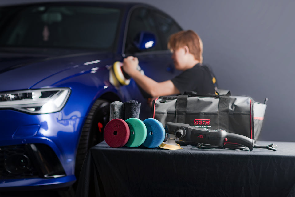 "SGCB 5"" RO Rotary Polisher Kit for Car Paint Compouding"