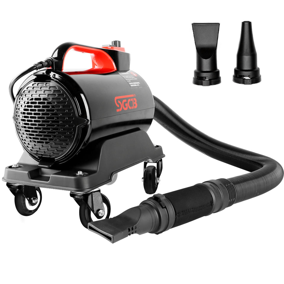 SGCB New 5.0HP Double Mode Temp Car Air Dryer Blower with 16.4' Hose