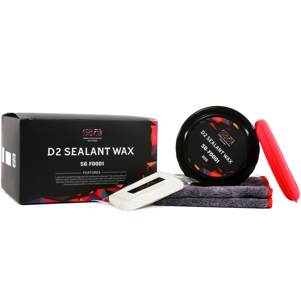 D2 Car Paint Sealant Carnauba Wax Paste Kit - SGCB AUTOCARE