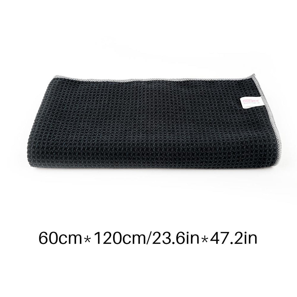 "24""x47"" Waffle Weave Microfiber Car Wash Dry Detailing Towel - SGCB AUTOCARE"