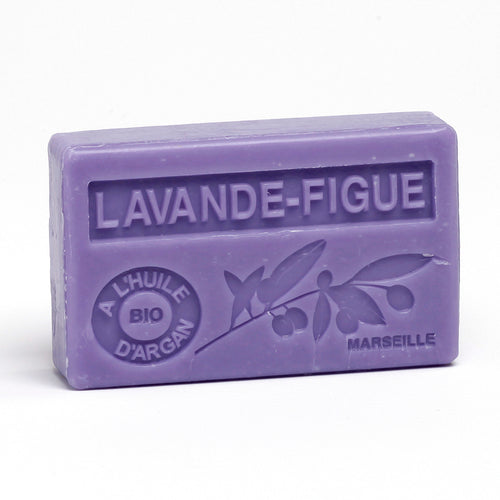 Organic Argan Oil Soap 100g - LAVANDE FIGUE (LAVENDER FIG) - La Maison Du Savon De Marseille - Traditional Soaps