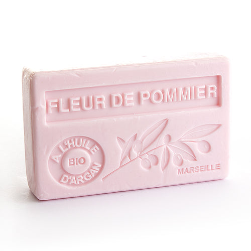 Organic Argan Oil Soap 100g - FLEUR DE POMMIER (APPLE FLOWER) - La Maison Du Savon De Marseille - Traditional Soaps