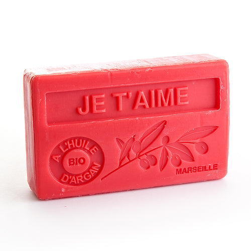 Organic Argan Oil Soap 100g - JE T'AIME (I LOVE YOU) - La Maison Du Savon De Marseille - Traditional Soaps