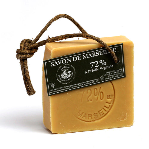 Marseille Soap Slice 150g - 72% Vegetable oil - La Maison Du Savon De Marseille - Traditional Soaps