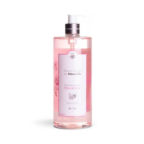 Liquid Marseille Soap 1L ROSE FLOWER - Organic olive oil - La Maison Du Savon De Marseille - Liquid Soap