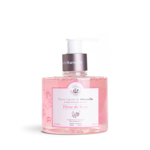Liquid Marseille soap 330ml ROSE FLOWER - Organic olive oil - La Maison Du Savon De Marseille - Liquid Soap