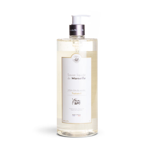 Liquid Marseille Soap 1L NATURAL - Organic olive oil - La Maison Du Savon De Marseille - Liquid Soap