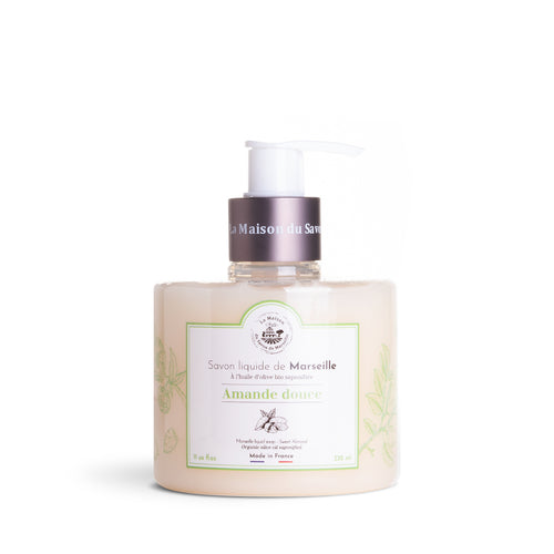 Liquid Marseille soap 330ml SWEET ALMOND - Organic olive oil - La Maison Du Savon De Marseille - Liquid Soap